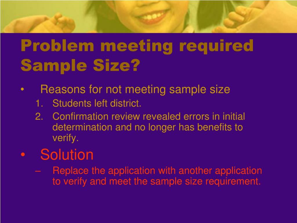 Problem meeting required Sample Size?