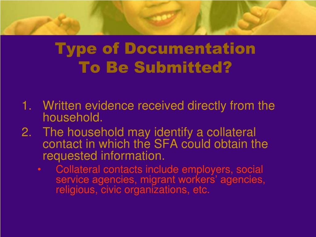 Type of Documentation