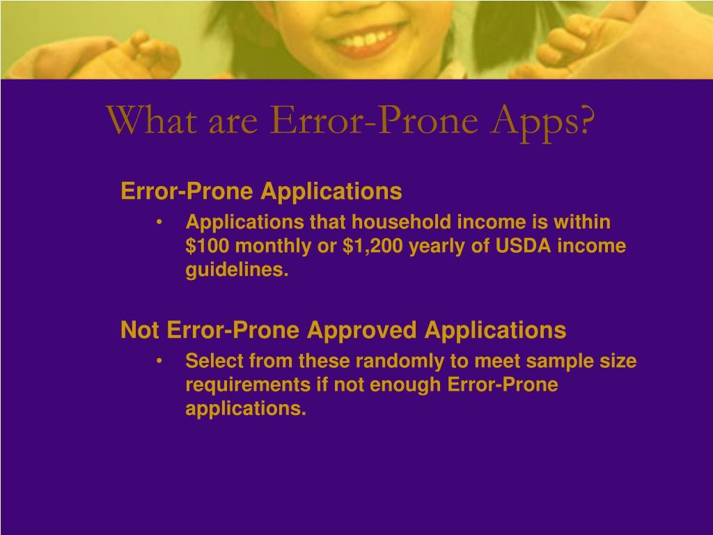 What are Error-Prone Apps?
