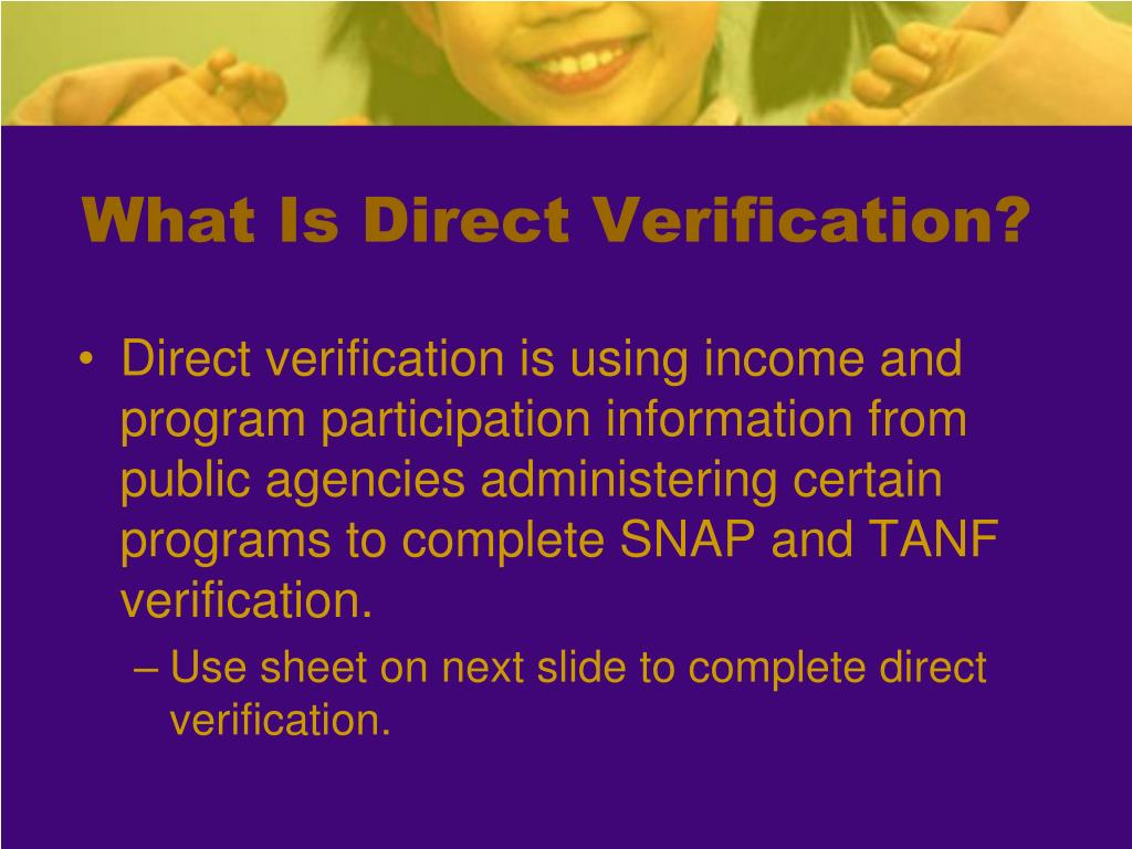 What Is Direct Verification?