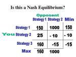 is this a nash equilibrium