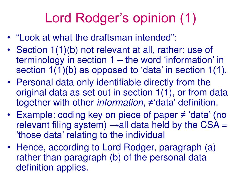 Lord Rodger's opinion (1)
