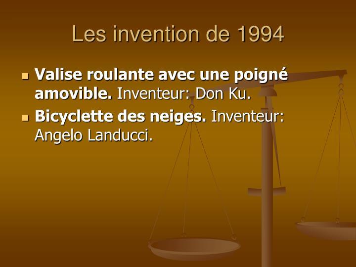 Les invention de 1994