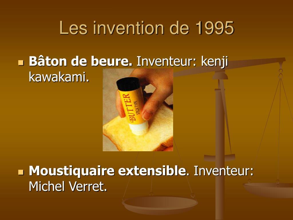 Les invention de 1995