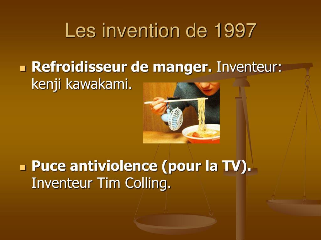 Les invention de 1997