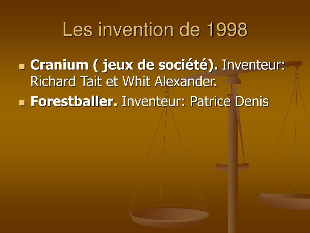 Les invention de 1998