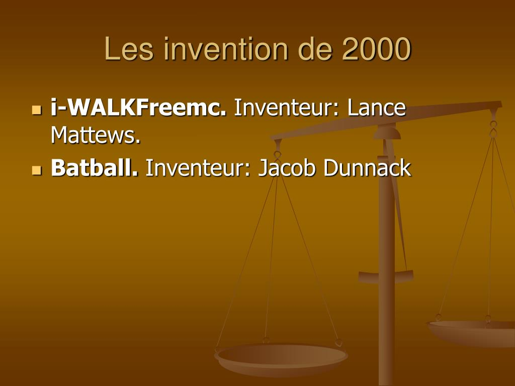 Les invention de 2000