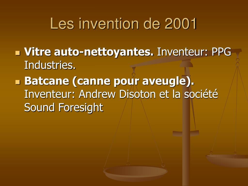 Les invention de 2001