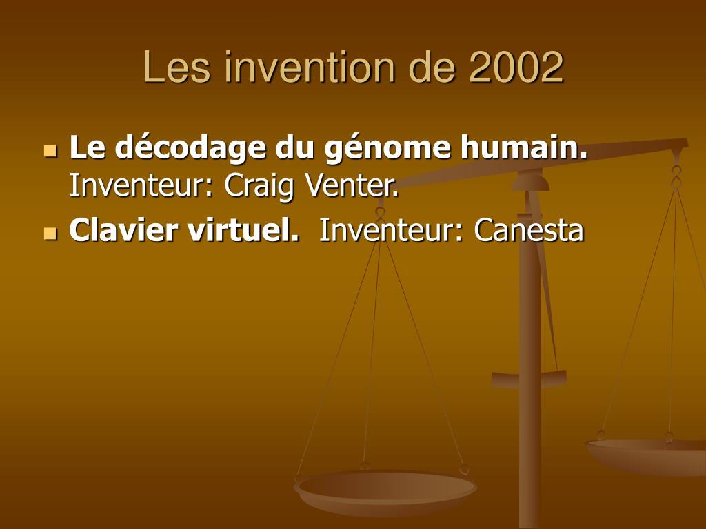Les invention de 2002