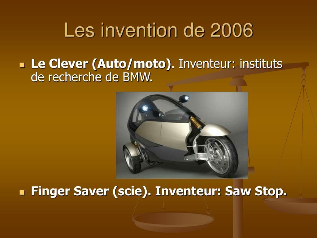Les invention de 2006