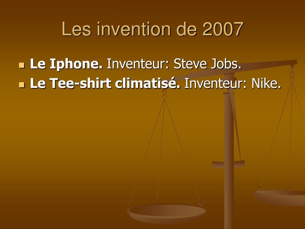 Les invention de 2007