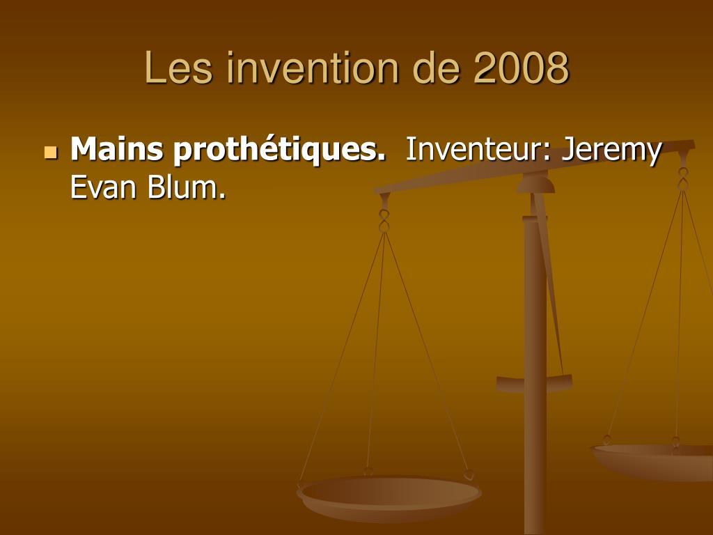Les invention de 2008
