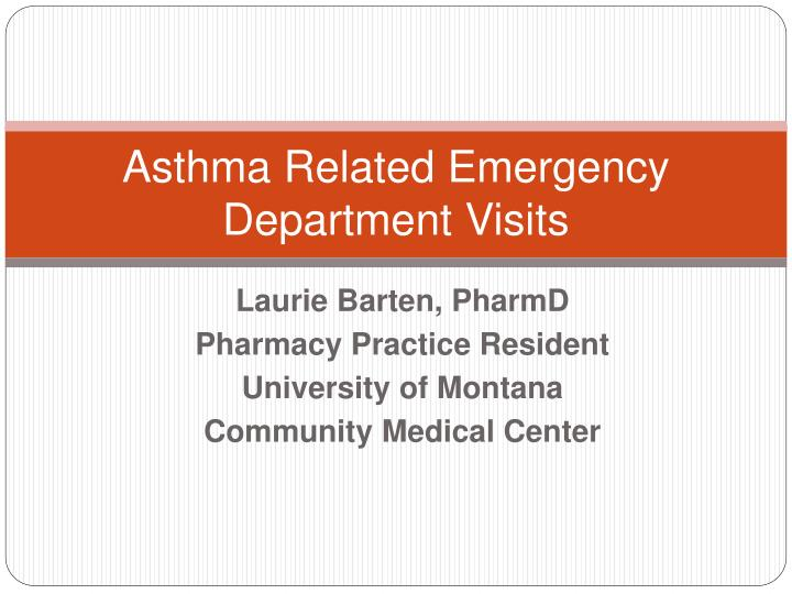Asthma related emergency department visits