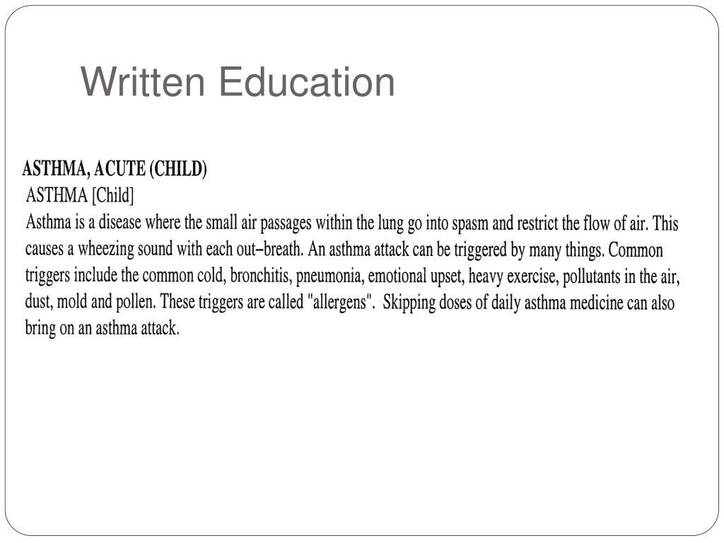 Written Education