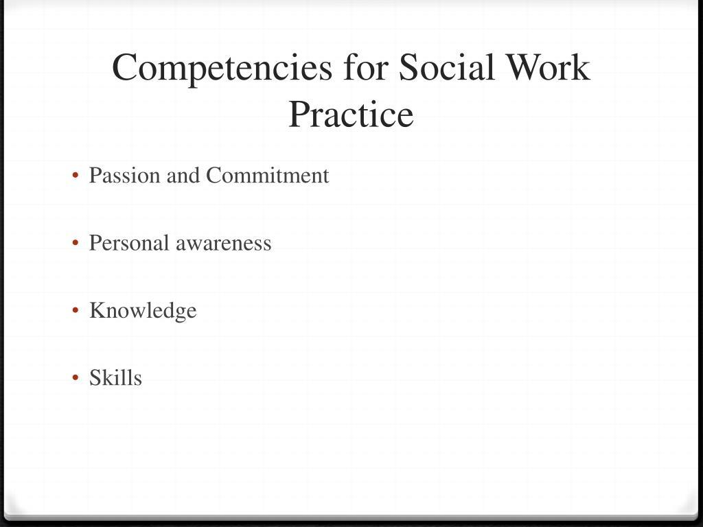 Competencies for Social Work Practice