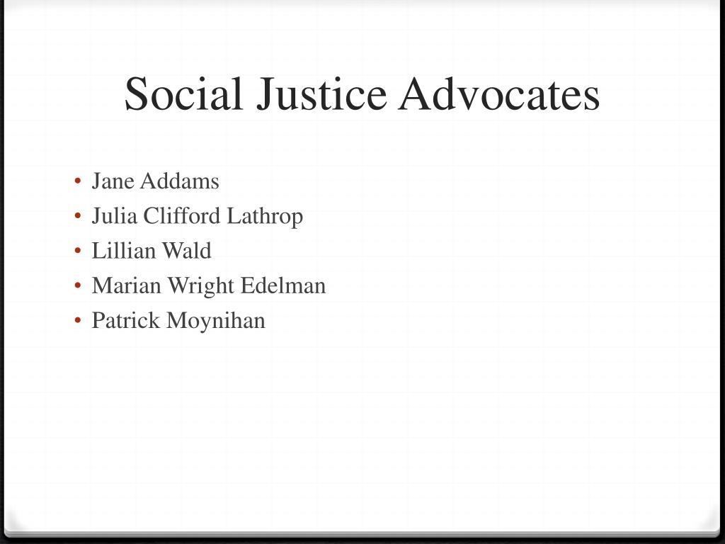 Social Justice Advocates
