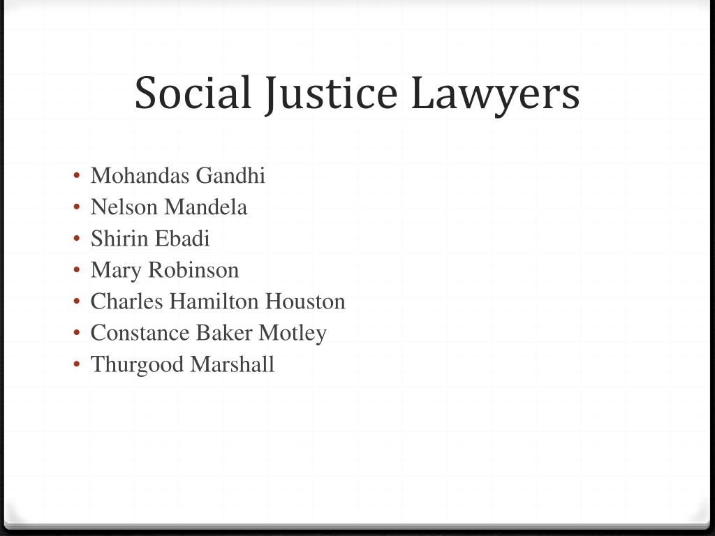 Social Justice Lawyers