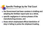 specific findings by the trial court