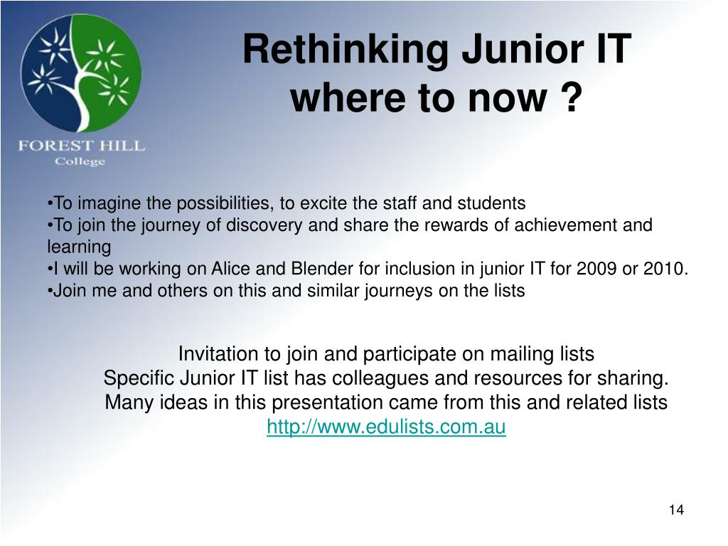 Rethinking Junior IT