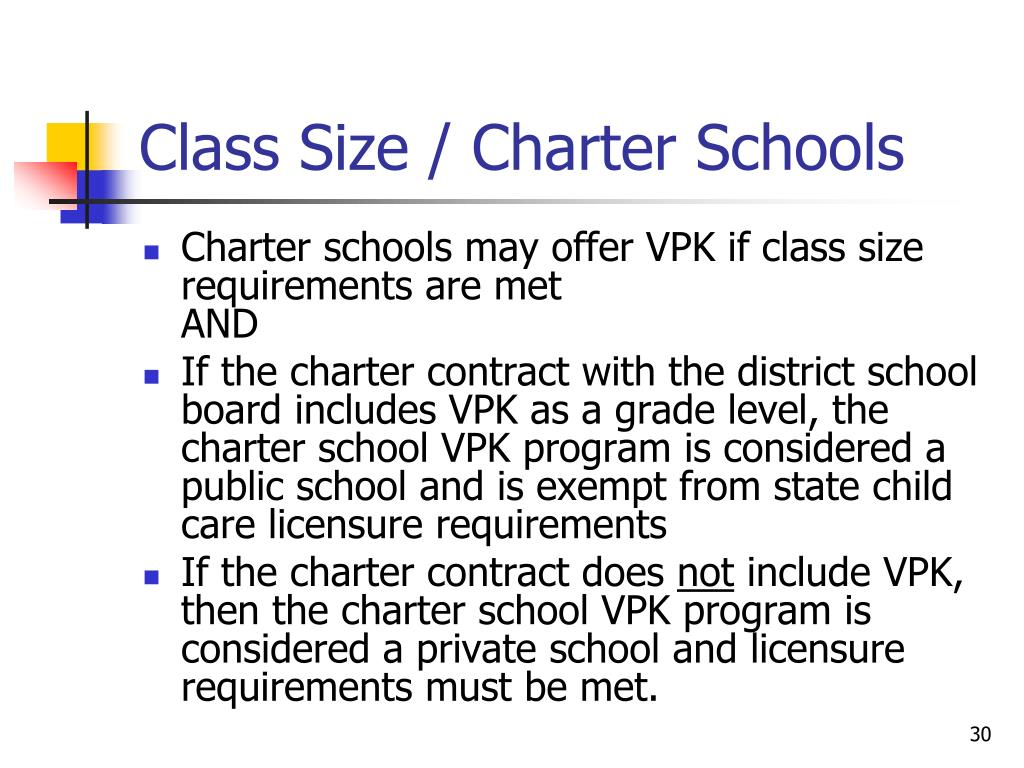 Class Size / Charter Schools