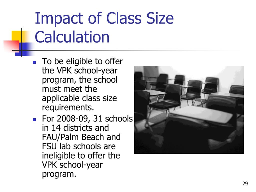 Impact of Class Size Calculation