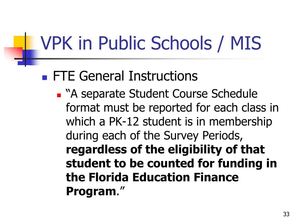 PPT - Voluntary Prekindergarten (VPK) Education Program