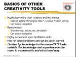 basics of other creativity tools