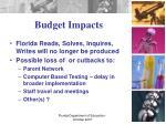 budget impacts