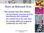 more on released tests