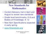 new standards for mathematics