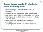 some things grade 11 students have difficulty with