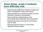 some things grade 8 students have difficulty with