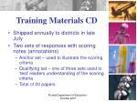 training materials cd