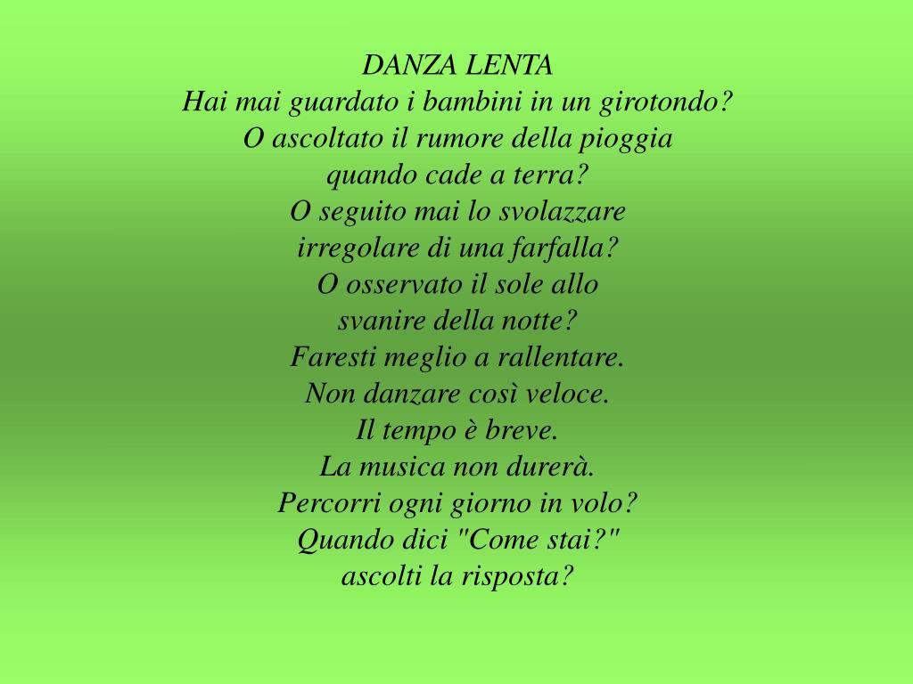 DANZA LENTA