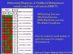 differential diagnosis of childhood malignancies small round blue cell tumors srbct
