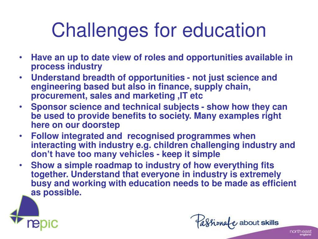 Challenges for education