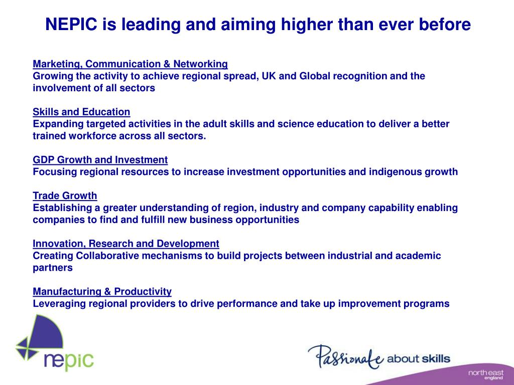 NEPIC is leading and aiming higher than ever before