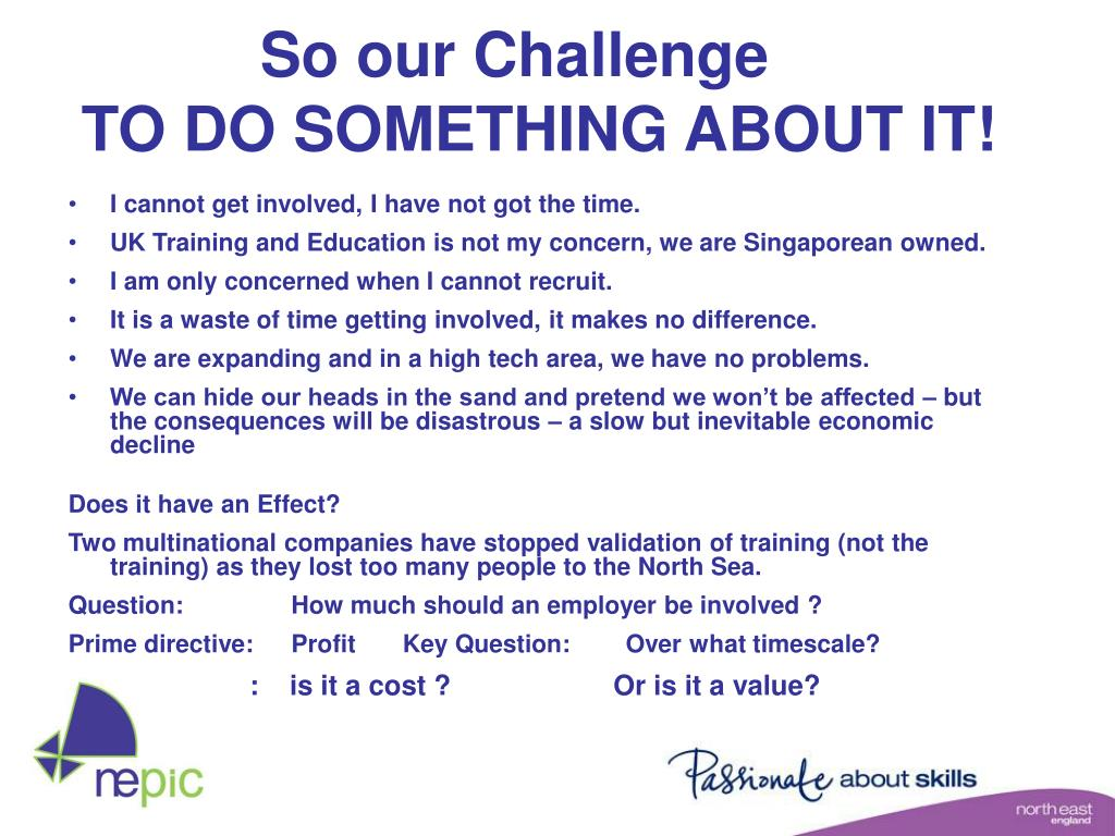 So our Challenge
