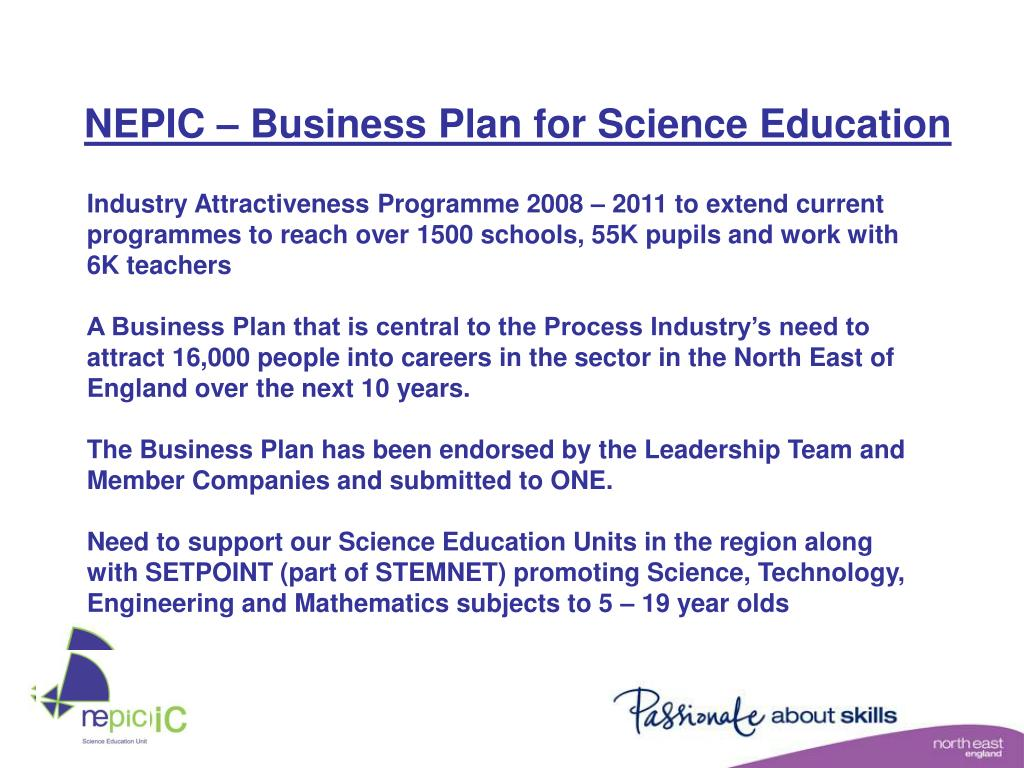 NEPIC – Business Plan for Science Education