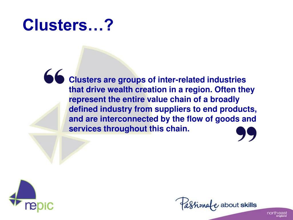 Clusters…?