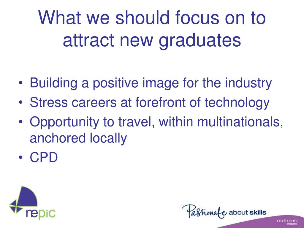 What we should focus on to attract new graduates