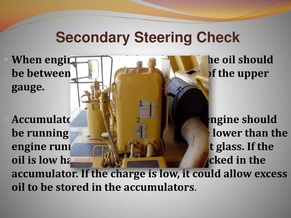 Secondary Steering Check