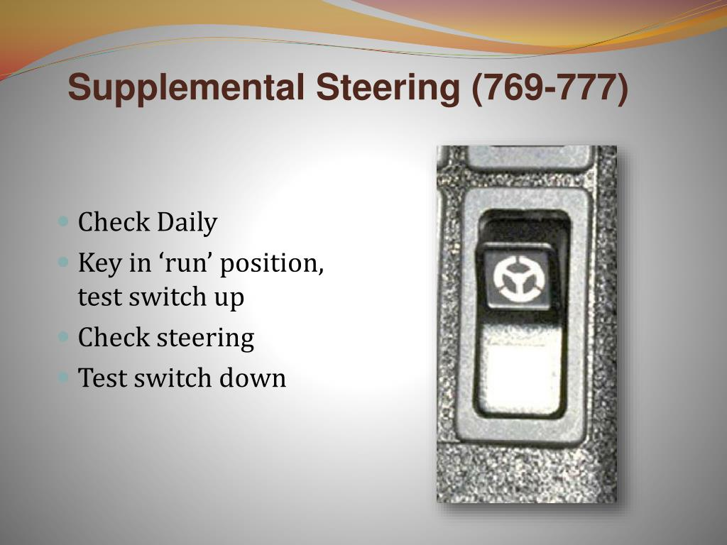 Supplemental Steering (769-777)