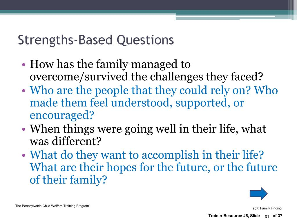 Strengths-Based Questions