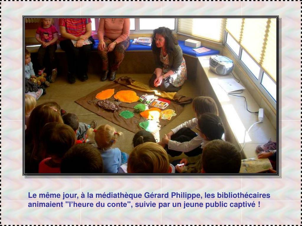 Le même jour, à la médiathèque Gérard Philippe, les bibliothécaires animaient