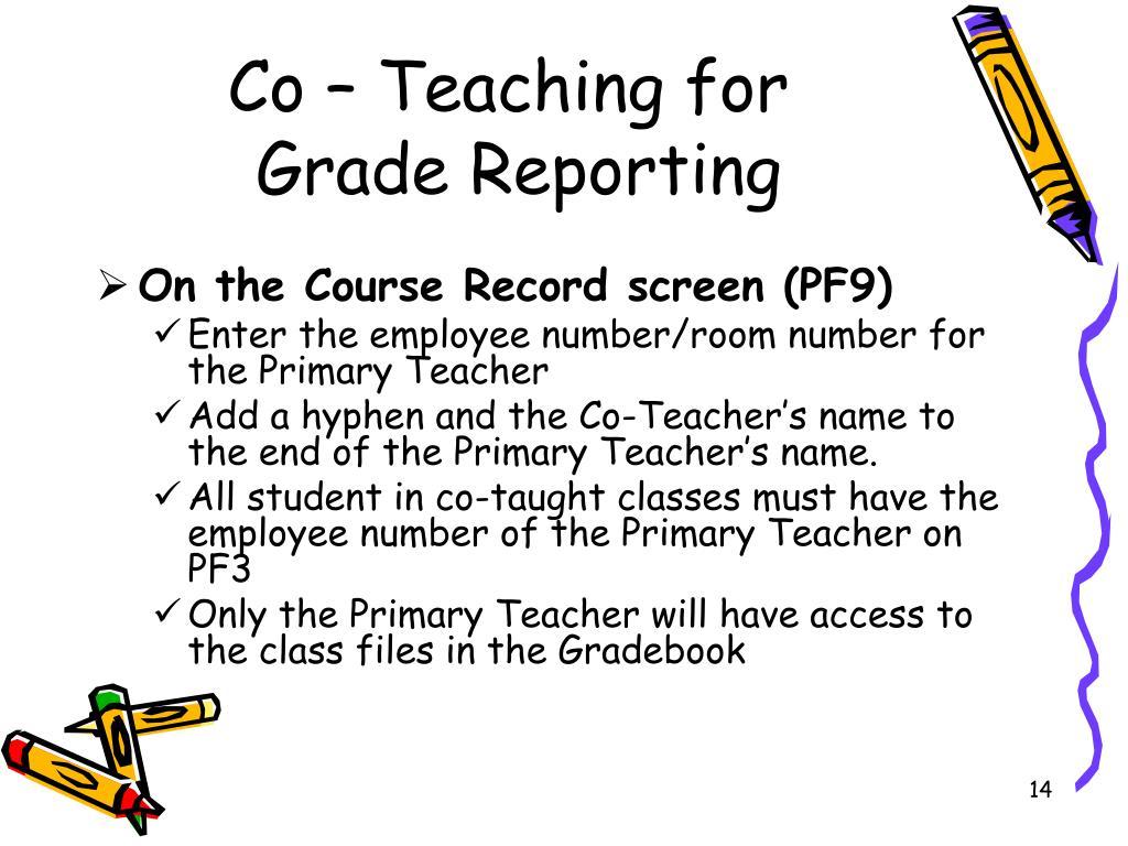 Co – Teaching for