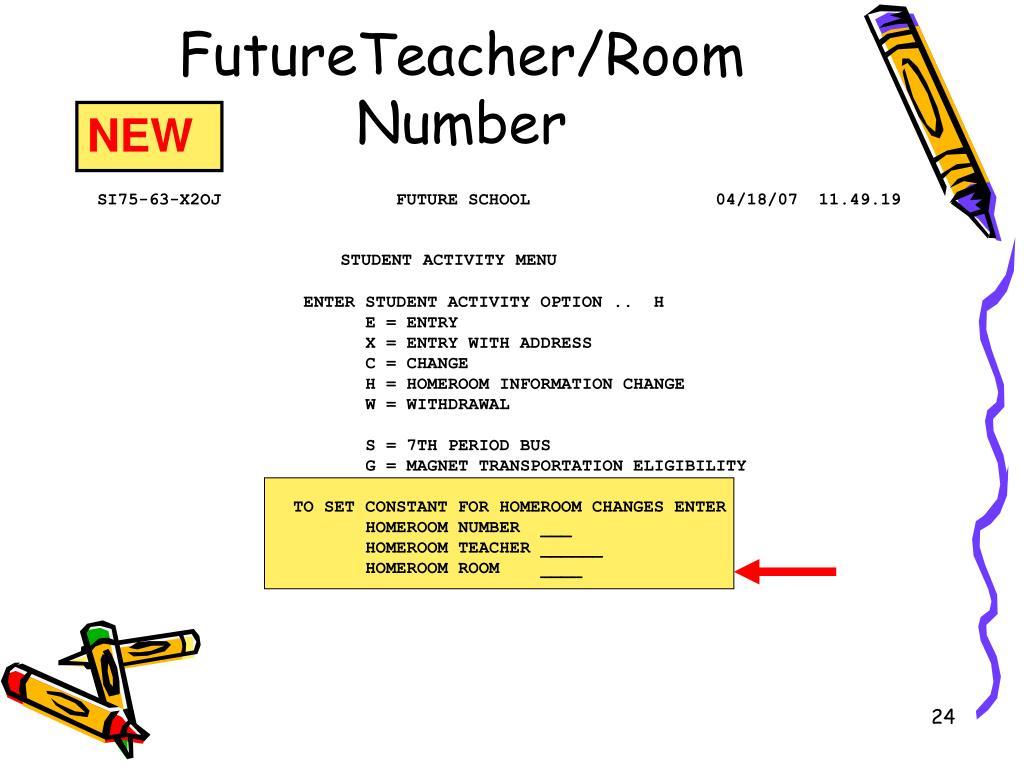 FutureTeacher/Room Number