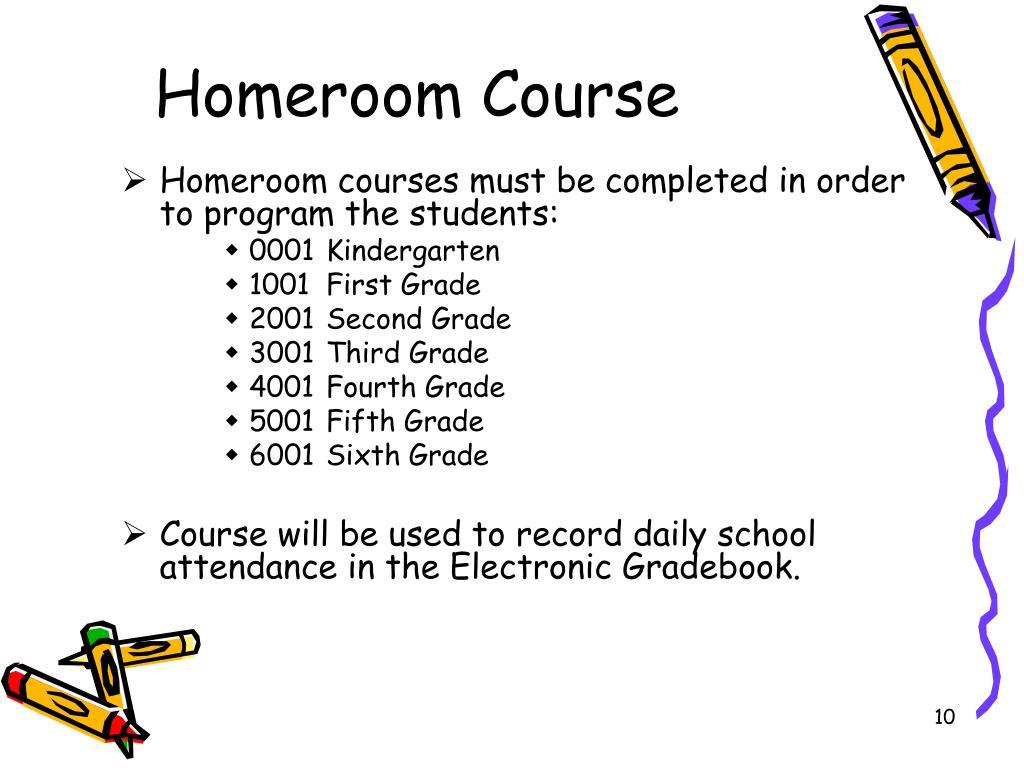 Homeroom Course