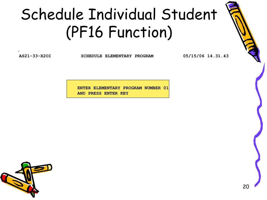 Schedule Individual Student