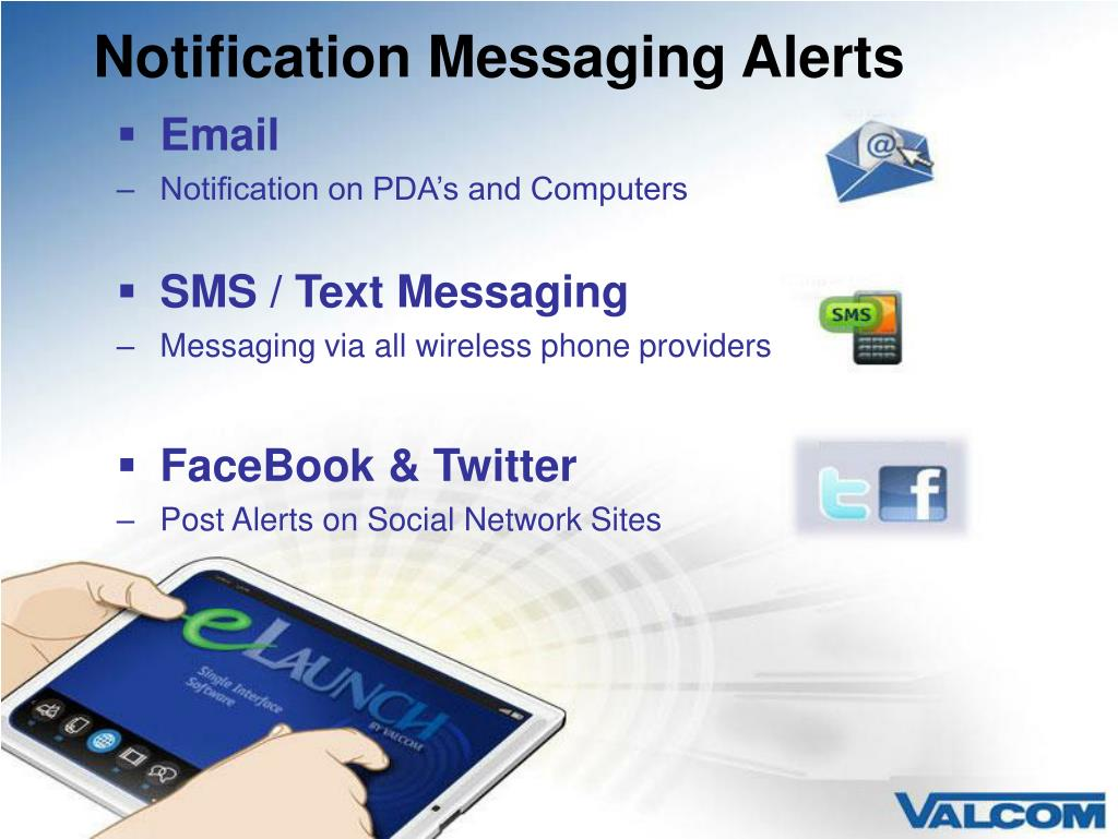 Notification Messaging Alerts